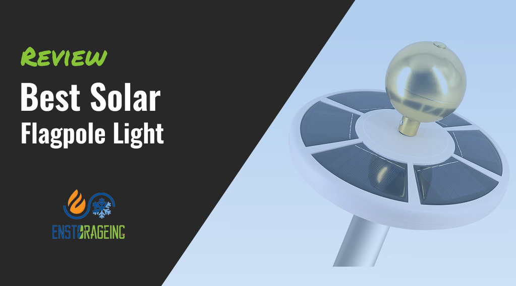 best solar flagpole light
