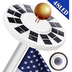 beidelt solar flag pole light