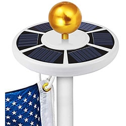 gogoducks solar flag pole