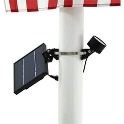mini 120x solar powered flag pole light