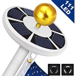 solar flag pole light 111 led light