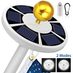 solar flag pole light moico