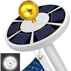 sprise solar flag pole lights