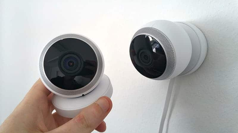 wall mounted security camera